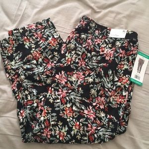 Jessica Simpson Black Floral Pants